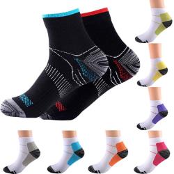 Men Women Compression Ankle Support Sock Brace yellow L/XL