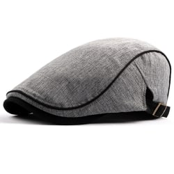 Mens Cap Baker Golf Driving Cabbie Beret Flat Ivy Hat light grey
