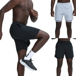 Mens Sweat Gym Sports Workout Fitness Basket Short Pants Black M