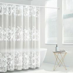 Modern Vattentät Tjockt Badrum Dusch Ridå Uppsättning