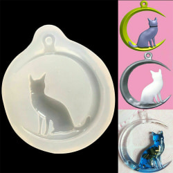 Moon Cat Silicone Pendant Mold Jewellry Making Resin Mould