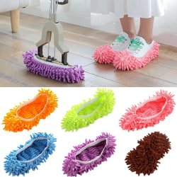 Mop Lazy Duster Sweep Floor Clean Slippers Cleaning Covers Purple 2 pack