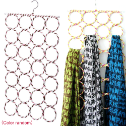 Multi Scarf Hanger Circular Wardrobe Ties Belt Scarves Space