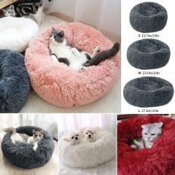 Multicolor Round Pet Bed Cat Dog Winter dark gray 60cm