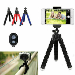 Octopod Tripod Flexible Tripod Stand Support for Mobile Camera red