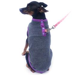 Pet Puppy Cat Dog Fleece Coat T-shirt Warm Jacket Vest Dark Grey S