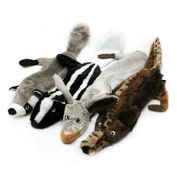 Plysch Hundleksak oförstörbar sällskapsdjur Puppy Sound Chew Squeaker Squirrel