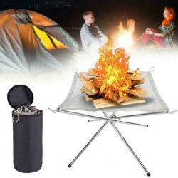 Bärbar hopfällbar bålställ BBQ Campingställ utomhus