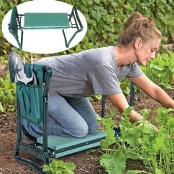 Portable Folding Garden Kneeler Foam Pad Knee Protect Toolbag