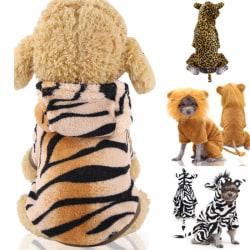 Puppy Pet Cosplay Kostym Kläder Printed Funny Dogs Coat Hoodie