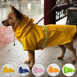 S5XL Dog Waterproof Outwear Rain Day Wear Pink 5XL