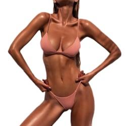 Sexy Women Lingerie Swimwear Exotic Summer Beach Bikini pink L