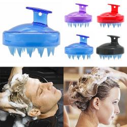 Silicone Scalp Massage Shampoo Brush Head Hair Comb Wash purple