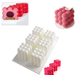 Silicone Square Mold Chocolate Cake DIY Baking 3D Mould