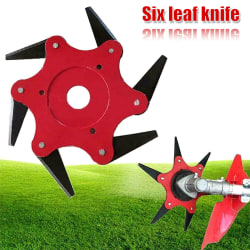 Six Leaf Blades Razors Lawn Mower Trimmer Head Trädgård Red