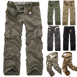 Spring Autumn Army Tactical Pants Multi pocket black 40