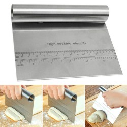 Stainless Steel Pastry Bench Scraper
