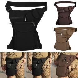 Tactical Military Men Drop Leg Bag Thigh Fanny Pack Black