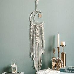 Tapestry Owl Dreamcatcher Decor White