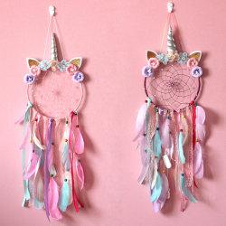 Unicorn Wind Bells Wall Hanging Tassel Decor Gift Purple