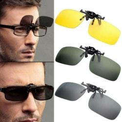 3-par Unisex Flip Up Clip Solglasögon skyddande glasögon