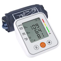 Upper Arm LCD Blood Pressure Monitoring Cuff Pulse Meter Machine