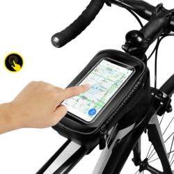Vattentät cykelram fram Väska cykeltelefon Holde black
