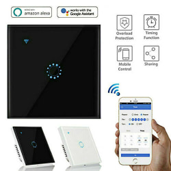WiFi Smart Home Touch Light Wall Switch Panel Remote Control Black