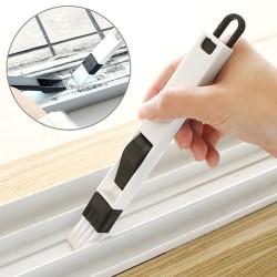 Window Groove Cleaning Brush Keyboard Gap Mini Cleaner 2In1 Kit Black