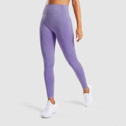 Women High Waisted Yoga Leggings Seamless Fitness Gym Pants Purple S