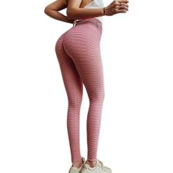 Women Yoga Pants Gym Leggings Sportswear Gym Fitness Trousers Pink S