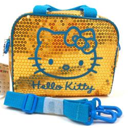 Hello Kitty Axelväska Paljett Gul Gul one size