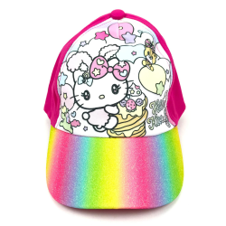 Hello Kitty Baseboll Keps Glitter Cerise storlek 54 Cerise