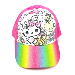 Hello Kitty Baseboll Keps Glitter Rosa storlek 54 Rosa