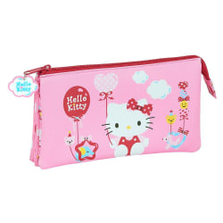 Hello Kitty pennfodral med 3 Fack - Ballong Rosa