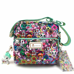 Tokidoki Flower Power Crossbody Väska med Unicorn Figur multifärg one size