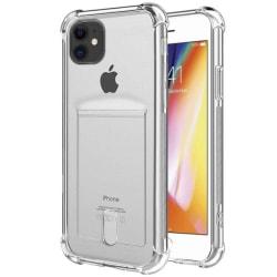 iPhone 12 Pro skal transparent med korthållare transparent
