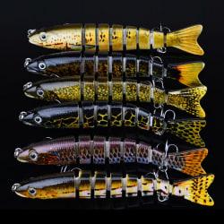 8 sektioner fiskelok 13cm / 18,8 g 6 # krok multi joi