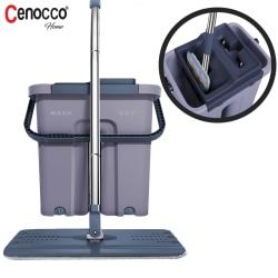 Cenocco CC-9070: Flatmopp med hink - Grå grå