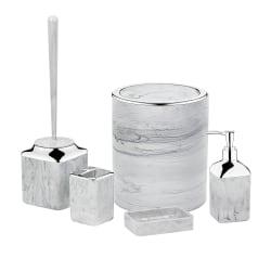 Herzberg 5 delar badrumsset - ljusgrå stenmarmor