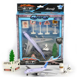 Metall Flygplan med Tillbehör 9st - 20 cm