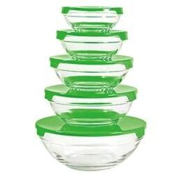 Stapelbar Skål 10st - grön grön