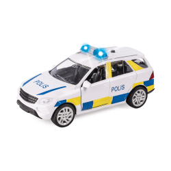 Cars Bilar Bil Police - Polisbil 12cm A Light & Sounds