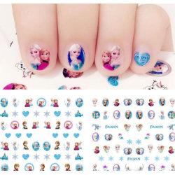 Frost Frozen Elsa Anna Pyssel Make Up Nagel Stickers 100st