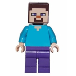 Lego Figur Minecraft Steve Blå Lila LF24-4