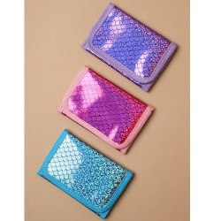 Leksaker Robetoy Plånbok Canvas Holographic Glitter Välj 3 Ljusblå