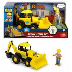Simba Bob Byggare Builder bil Fordon Set Skopis Prat