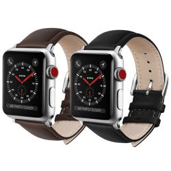 Apple Watch läderband 38/40mm Svart