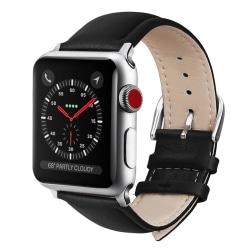 Apple Watch läderband 42/44mm Svart