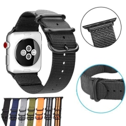 Apple Watch Nato-armband i nylon 38/40mm - fler färger Svart
